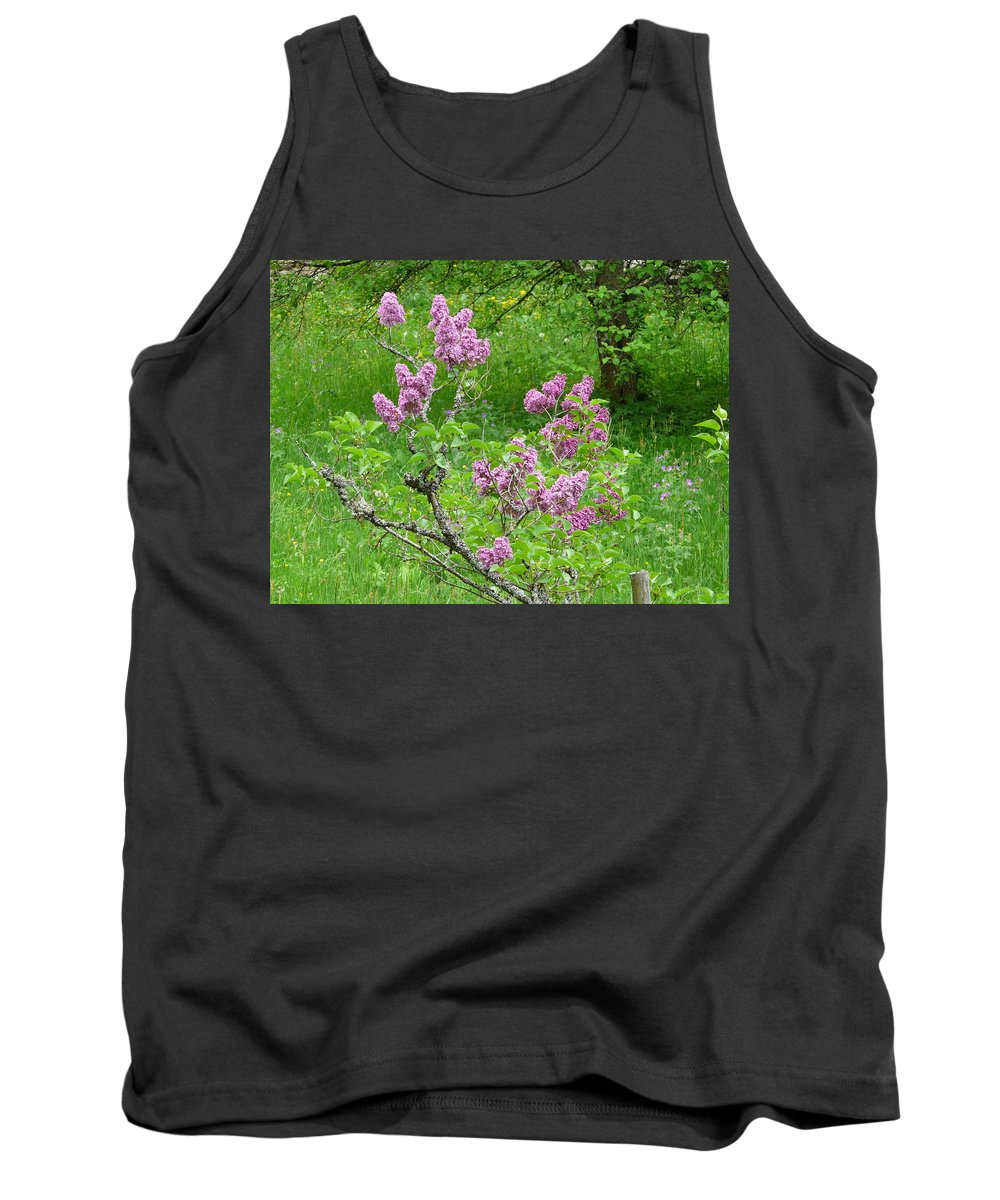 Flower Tank Top featuring the photograph Lilac In The Spring Meadow by Valerie Ornstein