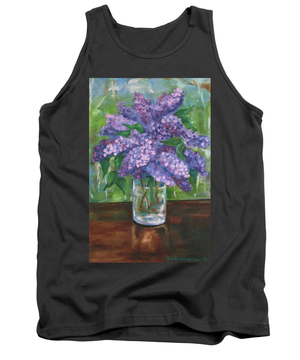 Lilacs Tank Top featuring the painting Lilacs by Jennifer Christenson