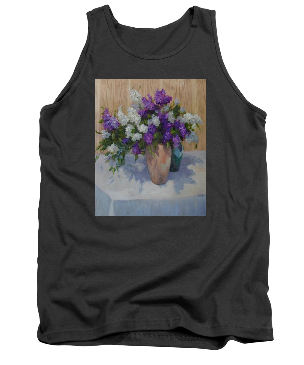 Lilacs Tank Top featuring the painting Lilacs by Patricia Kness