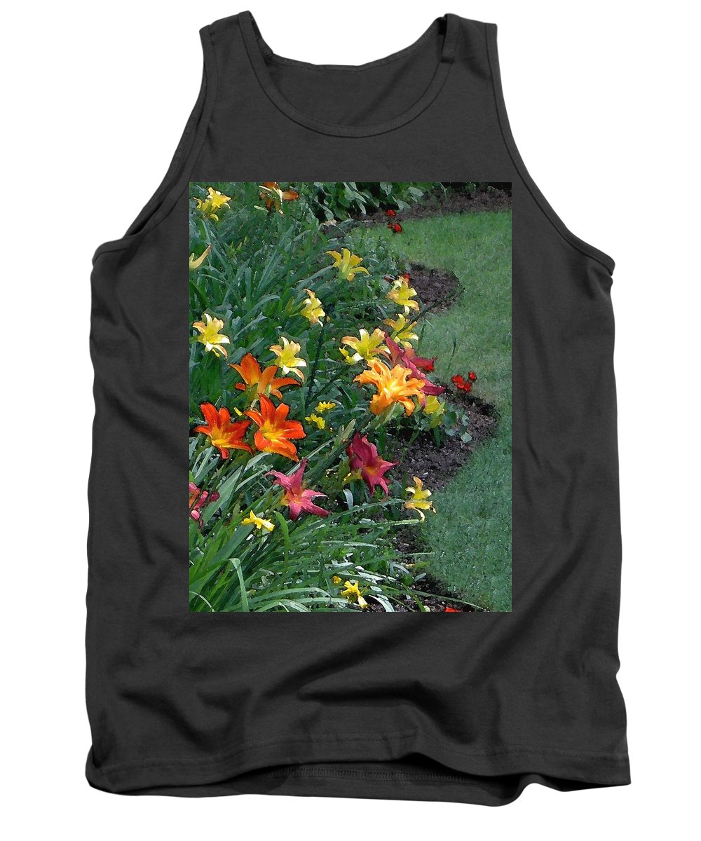 Lily Tank Top featuring the photograph Lilies On Parade by Carolyn Jacob