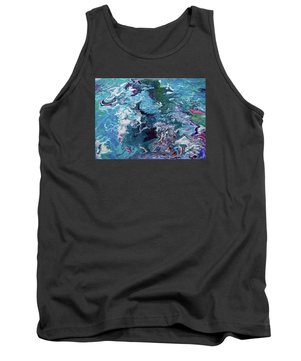 Fusionart Tank Top featuring the painting Lilies by Ralph White