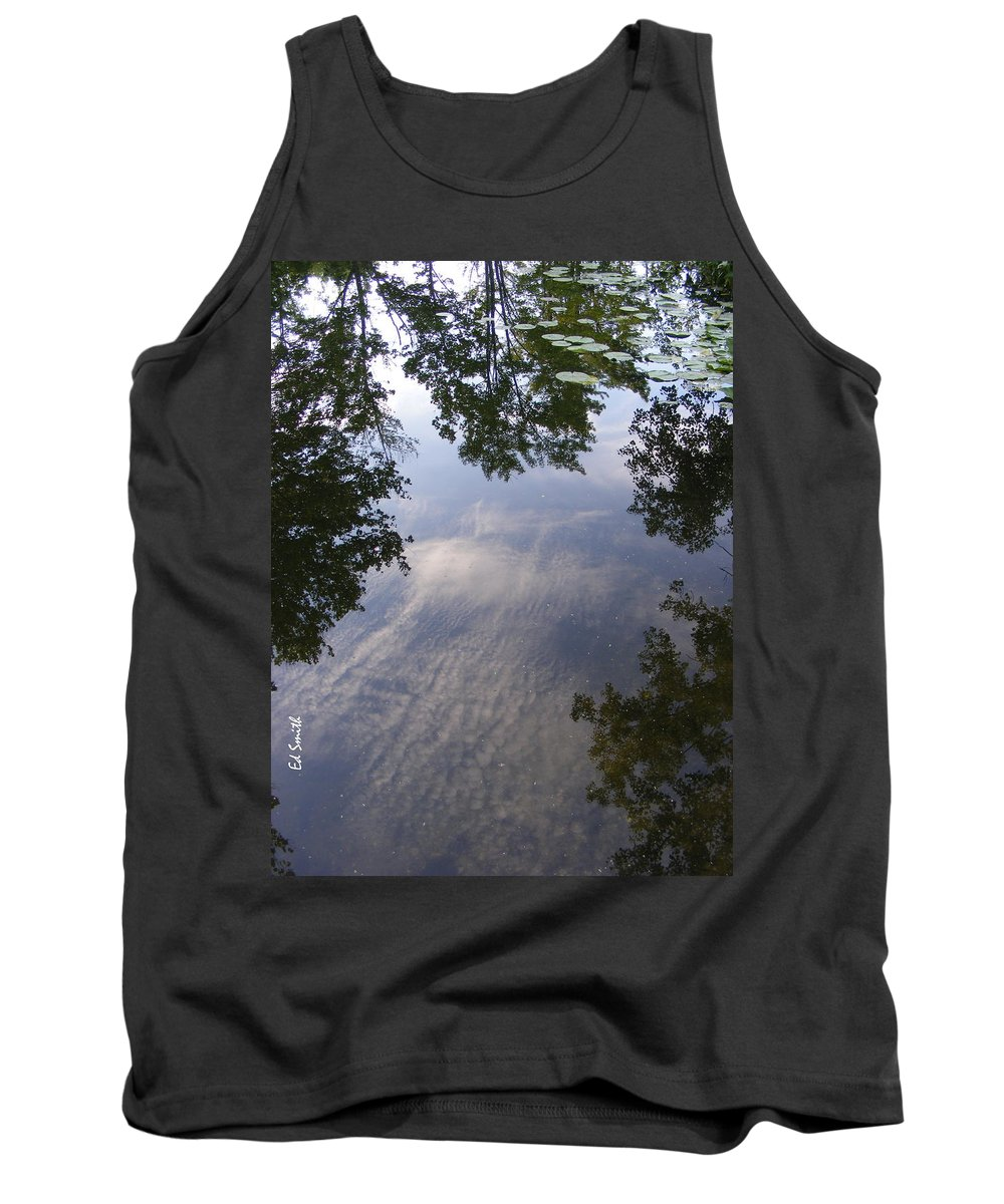 Lilly Pad Reflections Tank Top featuring the photograph Lilly Pad Reflections by Edward Smith