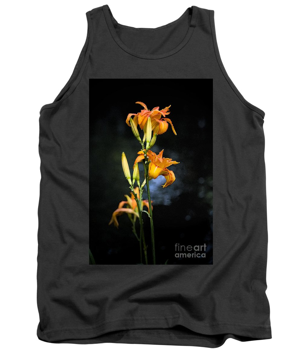 Lily Monet Garden Flora Tank Top featuring the photograph Lily In Monets Garden by Sheila Smart Fine Art Photography