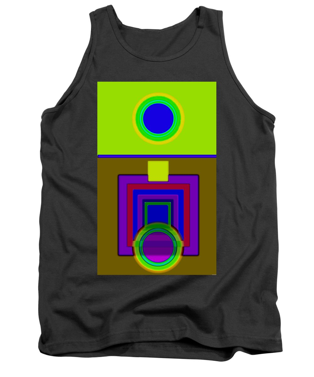 Classical Tank Top featuring the painting Lime Driver by Charles Stuart