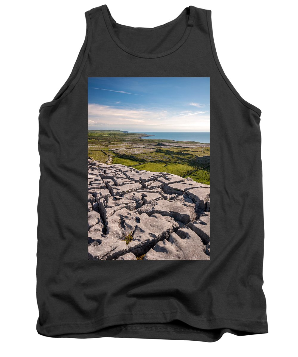 Ireland Tank Top featuring the photograph Limestone Landscape Of The Burren Ireland by Pierre Leclerc Photography