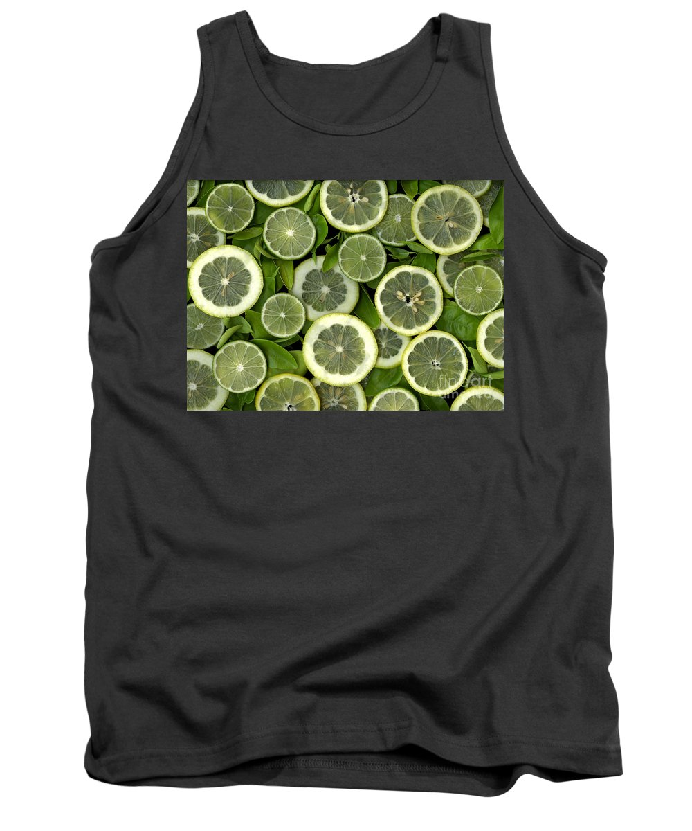 Scanography. Slanec Tank Top featuring the photograph Limons by Christian Slanec