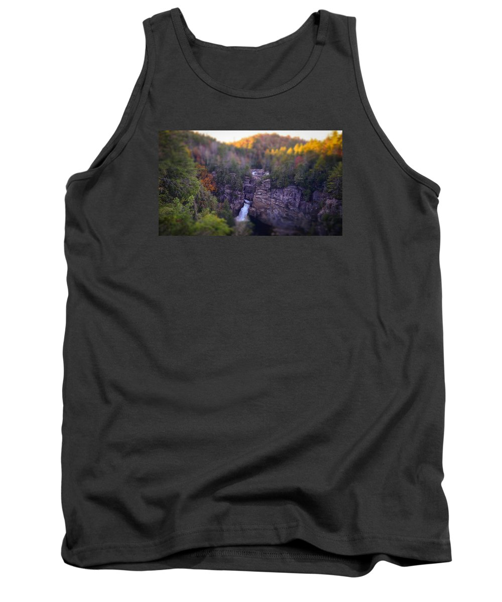 Linville Falls Tank Top featuring the photograph Linville Falls by Brittany Jordan