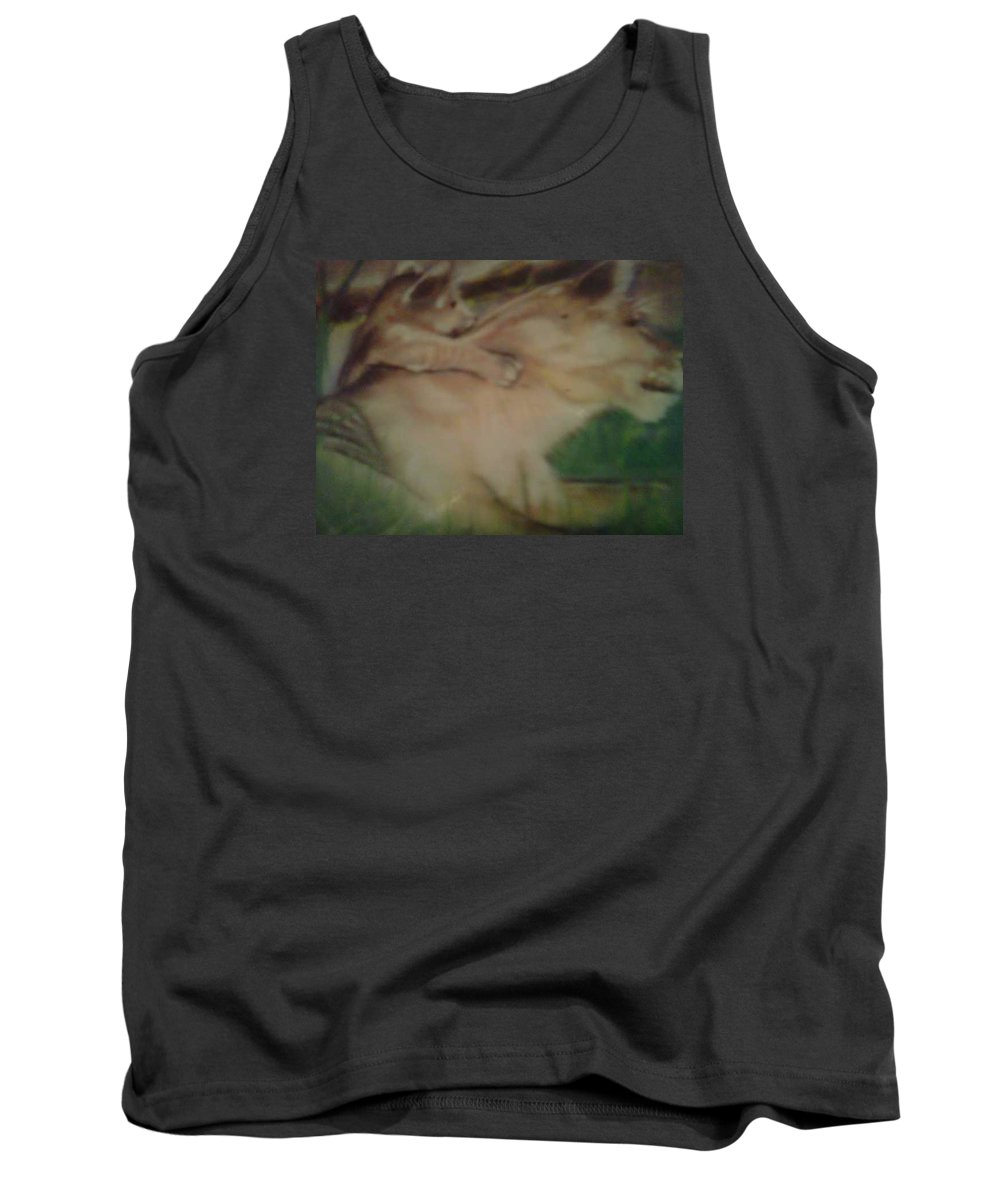 Lion Tank Top featuring the pastel Lioness And Cub by Sylvester Wofford