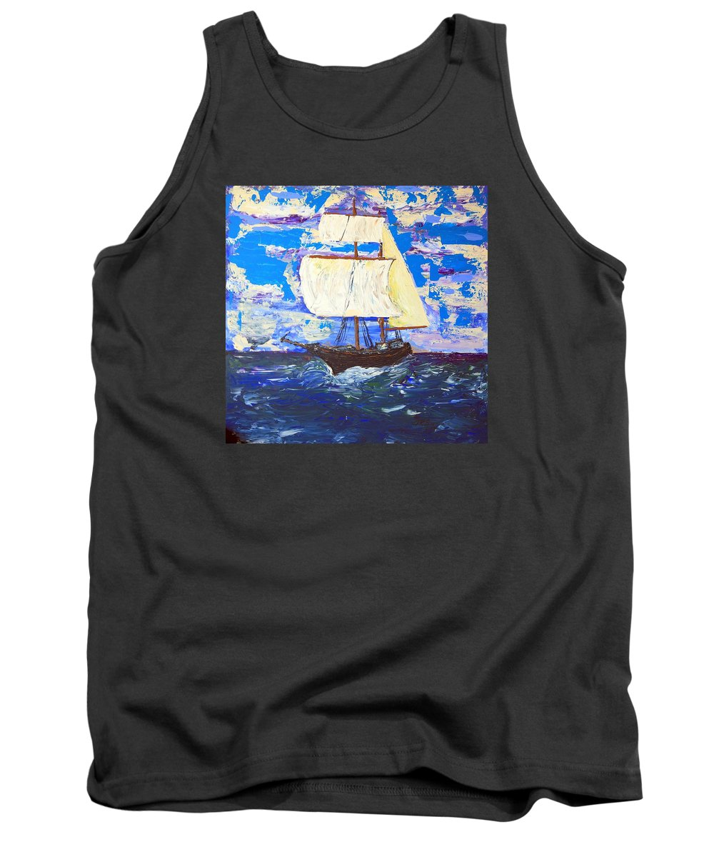 Clipper Tank Top featuring the painting Little Clipper by J R Seymour