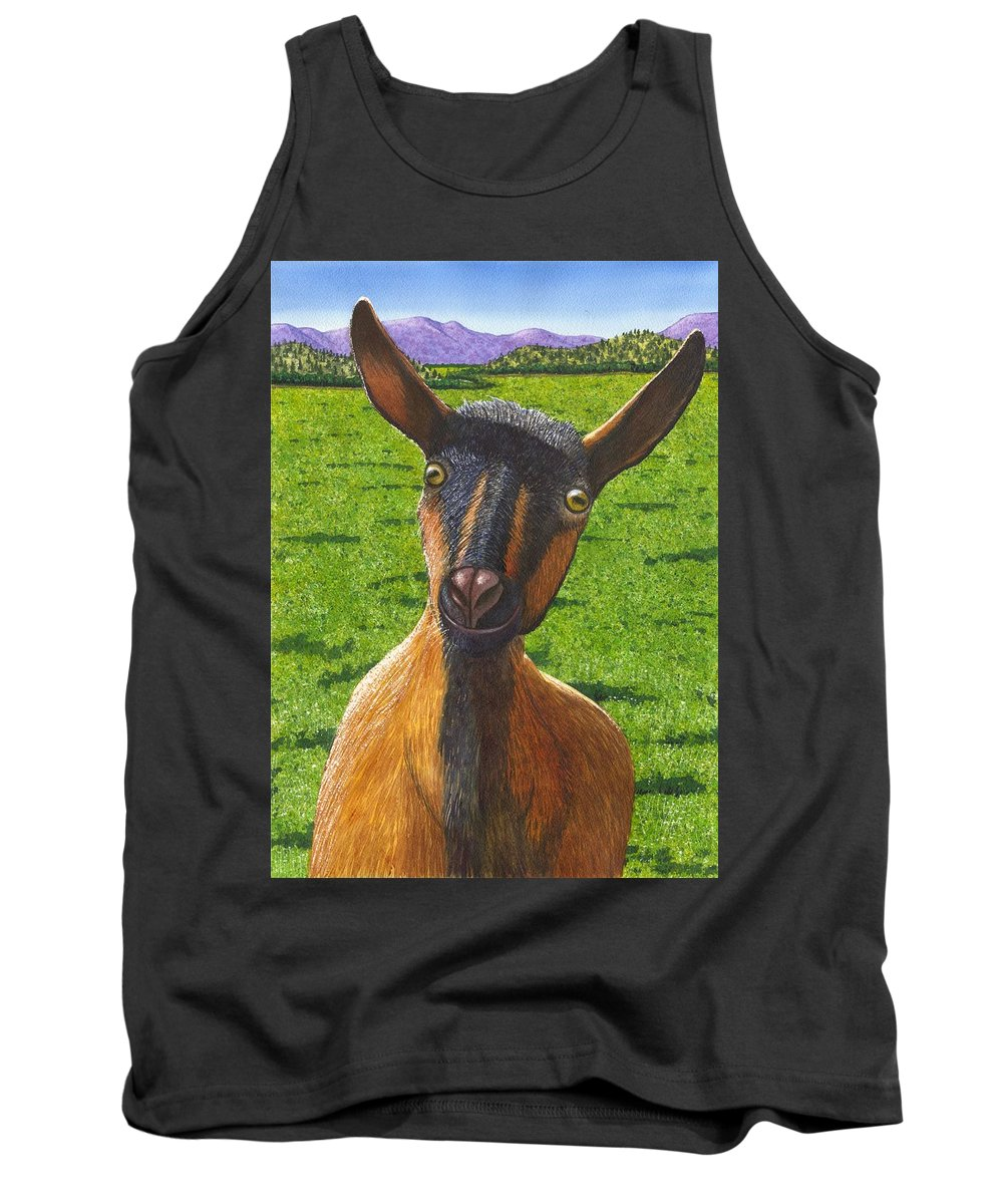 Goat Tank Top featuring the painting Little Goat by Catherine G McElroy