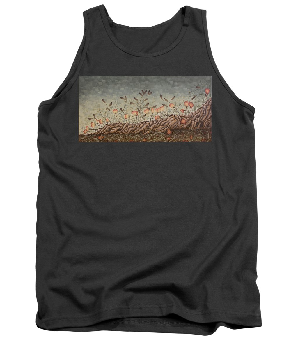 Sex Tank Top featuring the painting Little Gods by Judy Henninger