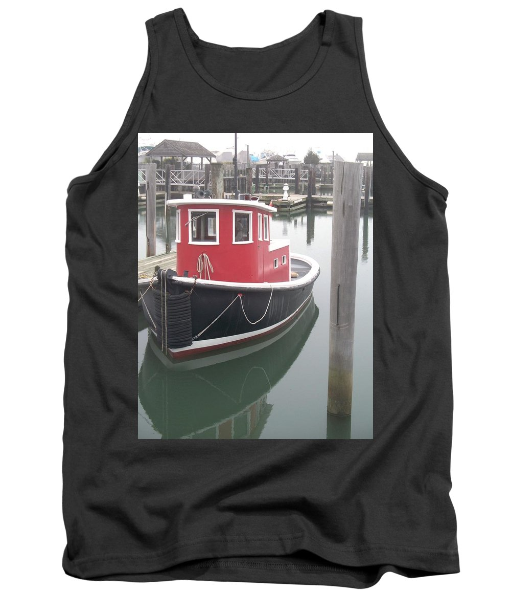 Tugboat Tank Top featuring the painting Little Tug by Eric Schiabor