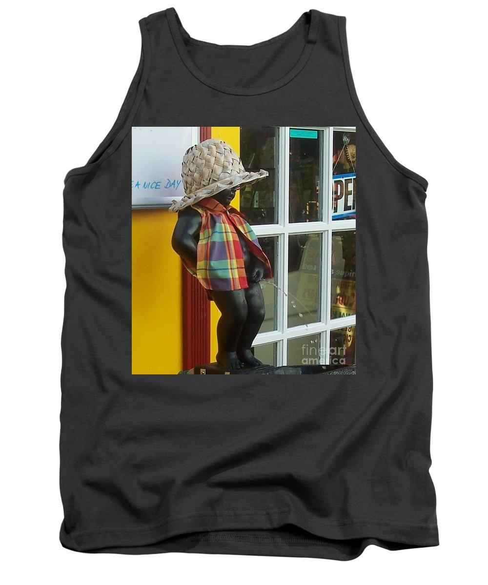 Fountain Tank Top featuring the photograph Little Wiz by Debbi Granruth