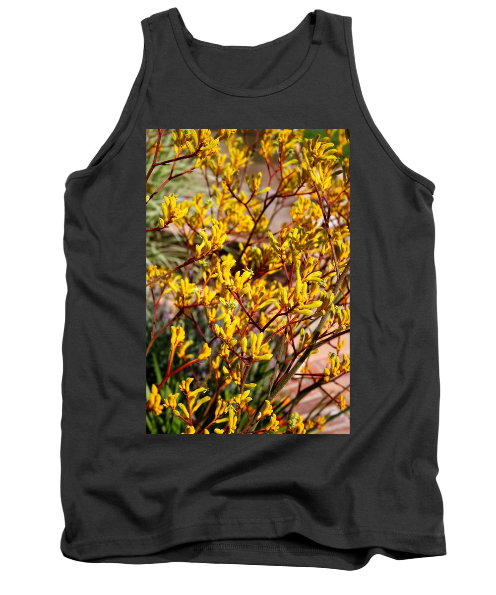 Little Yellow Flowers Tank Top featuring the photograph Little Yellow Flowers by Chris Brannen
