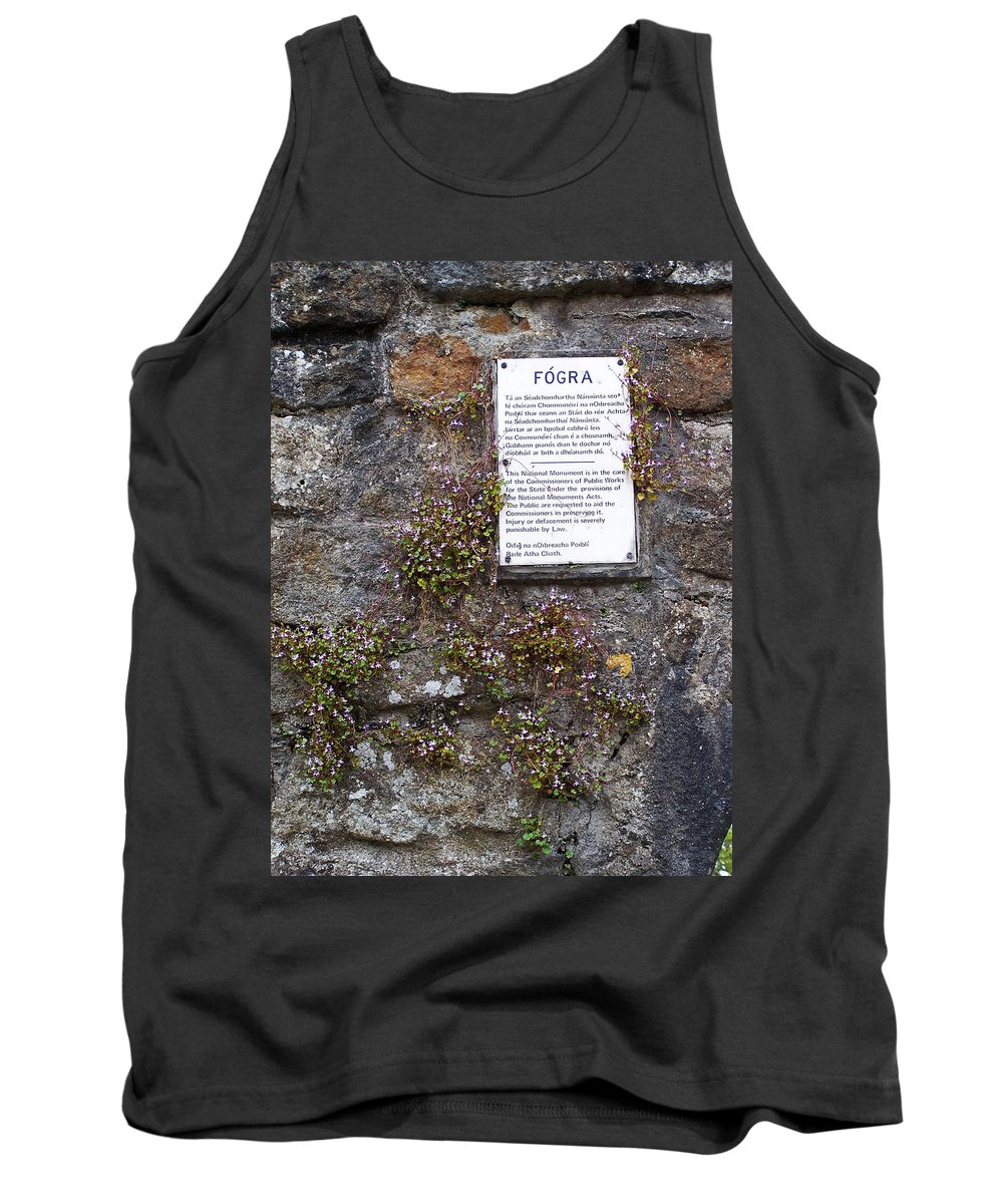 Irish Tank Top featuring the photograph Living Wall At Donegal Castle Ireland by Teresa Mucha