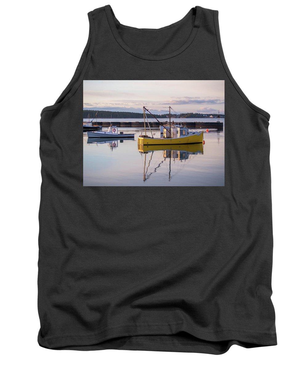 Jonesport Tank Top featuring the photograph Lobster Boat Jonesport, Maine by Trace Kittrell
