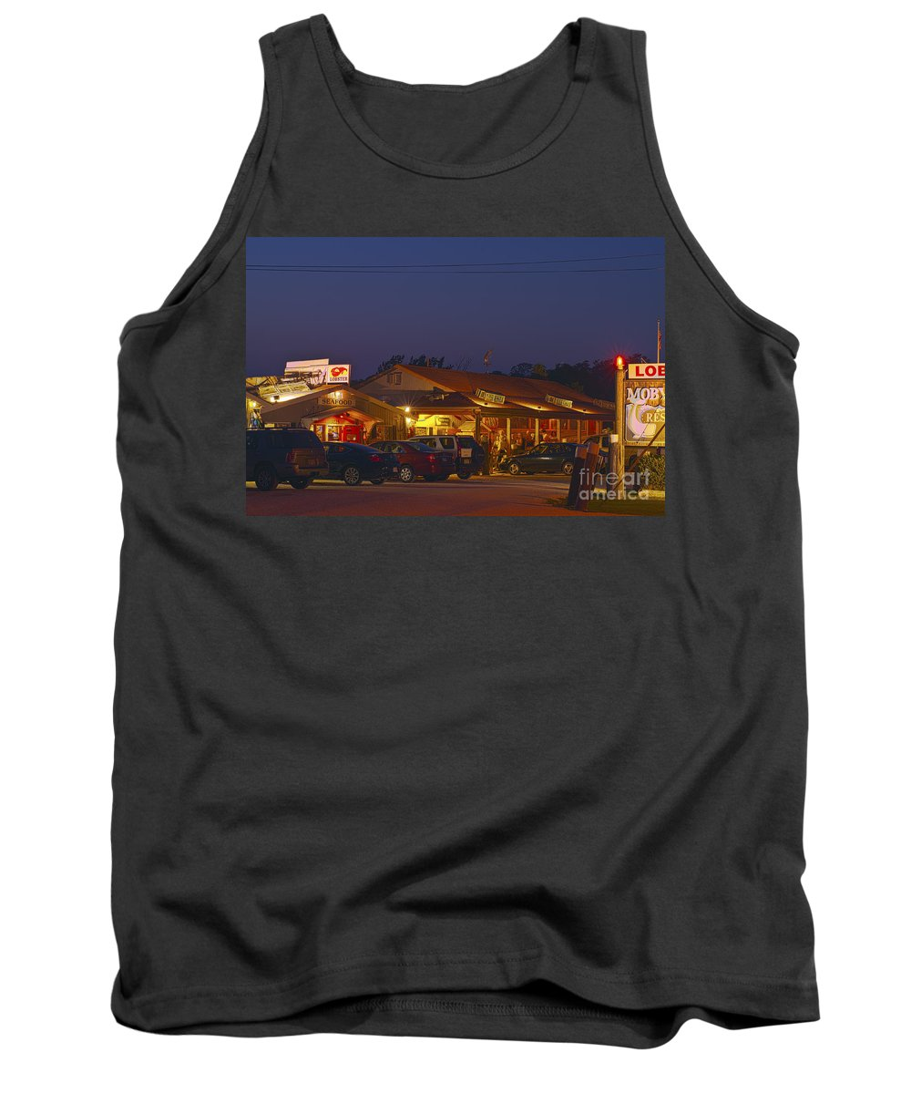 Cape Cod Tank Top featuring the photograph Lobster Pound. by John Greim