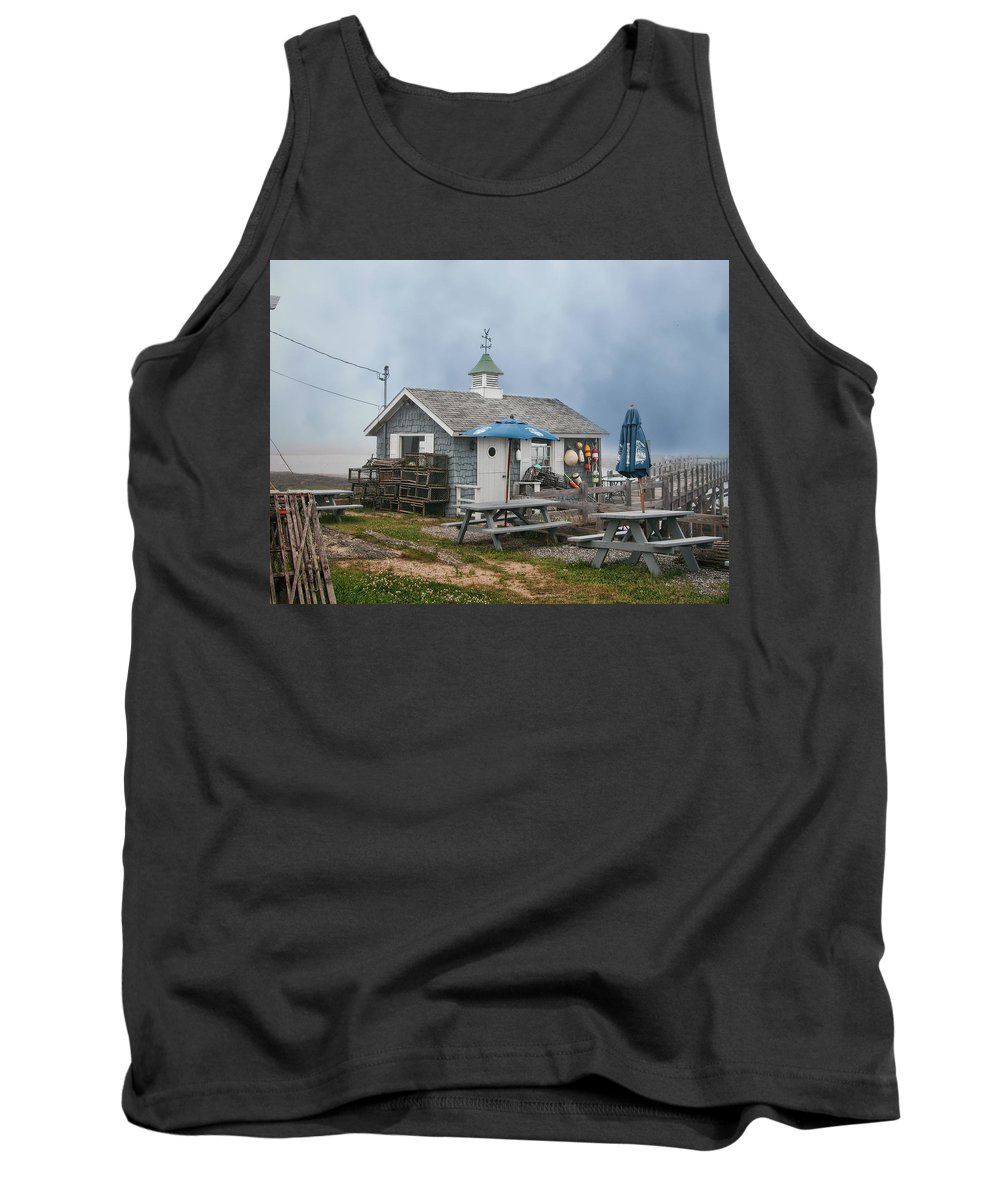 Shack Tank Top featuring the photograph Lobster Shack by Lorraine Baum