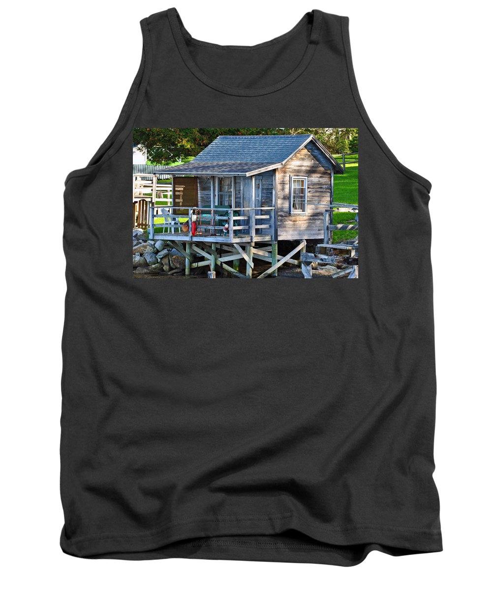 Lobster Tank Top featuring the photograph Lobster Shack by Scott Coleman