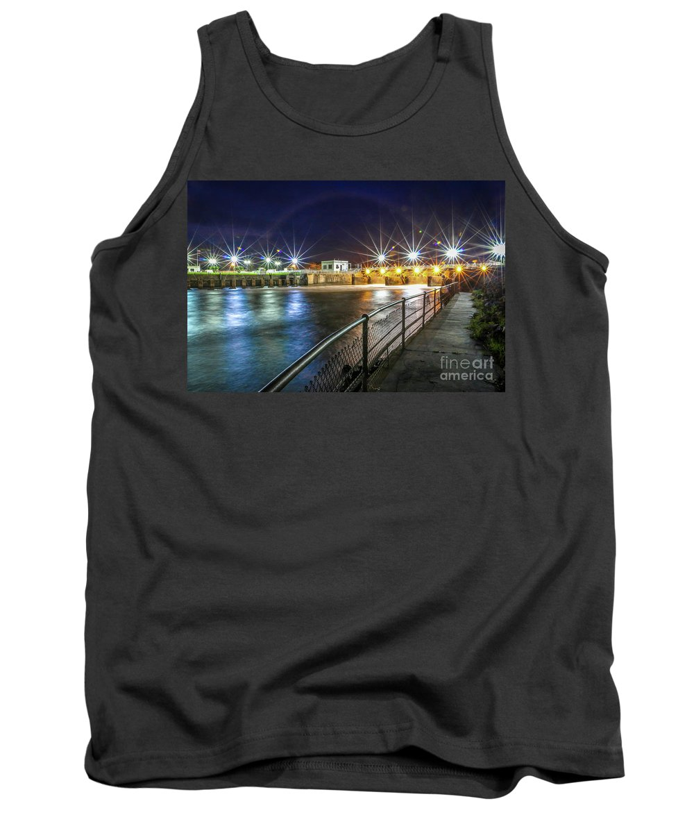 Dam Tank Top featuring the photograph Lock And Dam #1 by Tom Claud