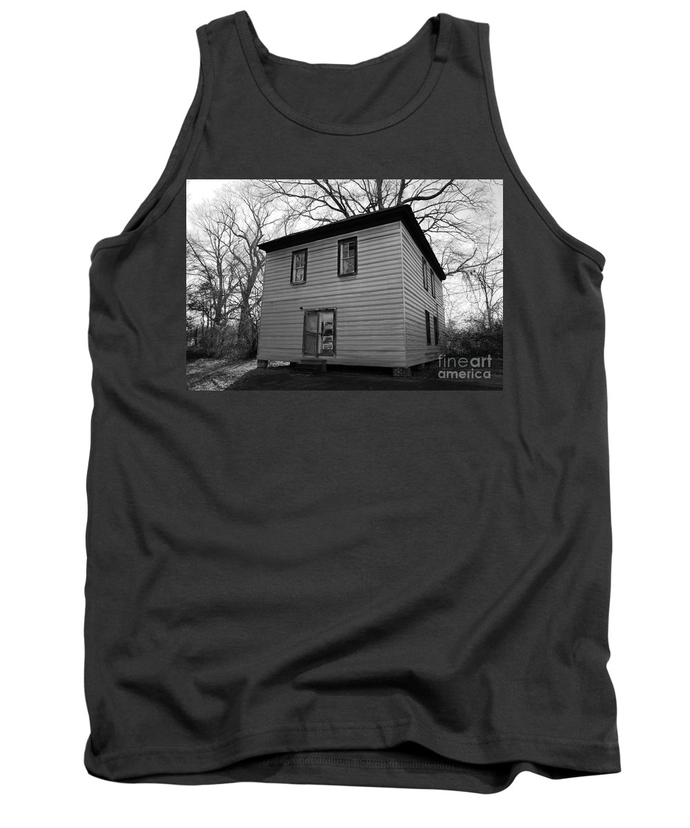 old Buildings Tank Top featuring the photograph Locked And Open Partially Broken by Amanda Barcon