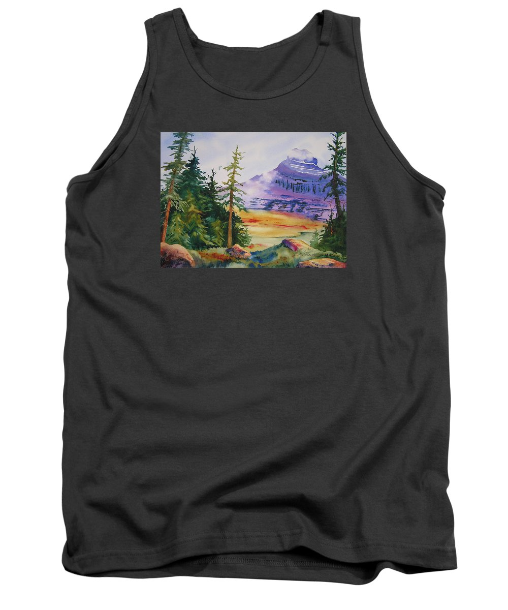 Landscape Tank Top featuring the painting Logan Pass by Karen Stark