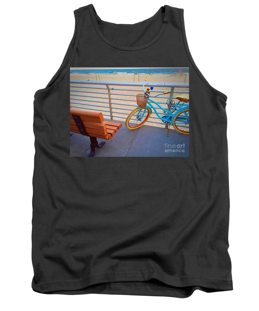 Beach Tank Top featuring the photograph Long Beach Cruiser by Bri Lou