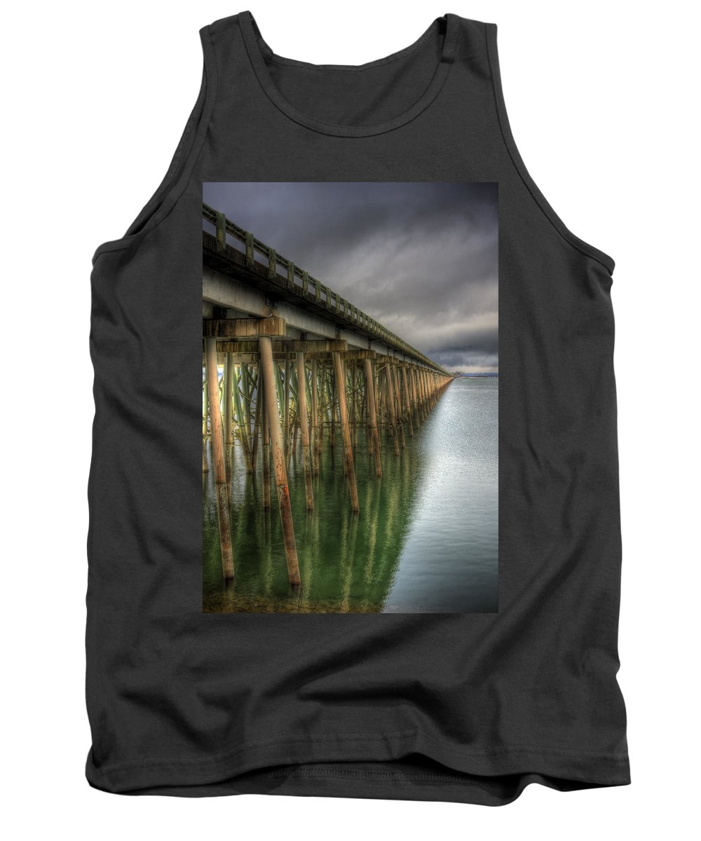 Scenic Tank Top featuring the photograph Long Bridge by Lee Santa