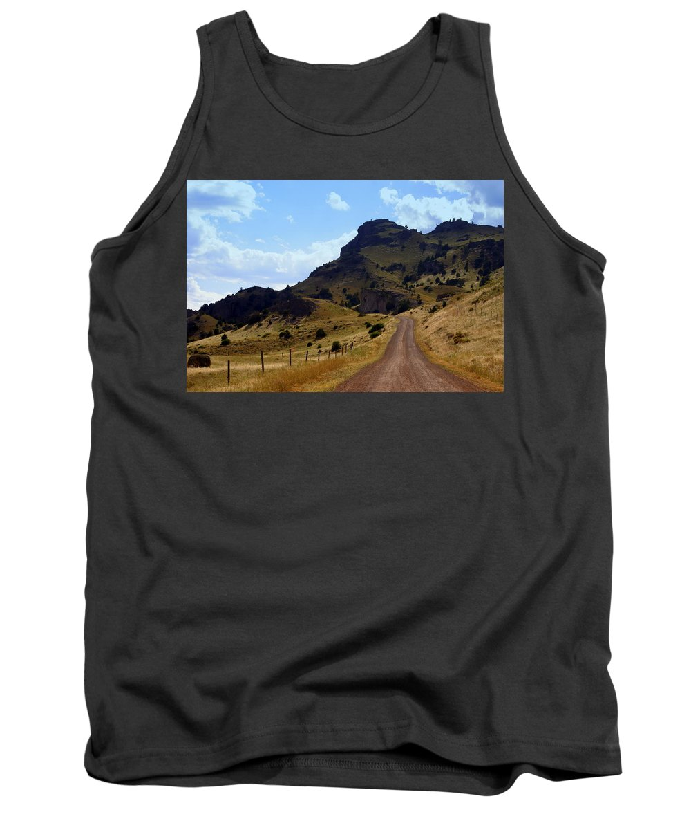 Tom Miner Rd. Tank Top featuring the photograph Lonly Road by Marty Koch