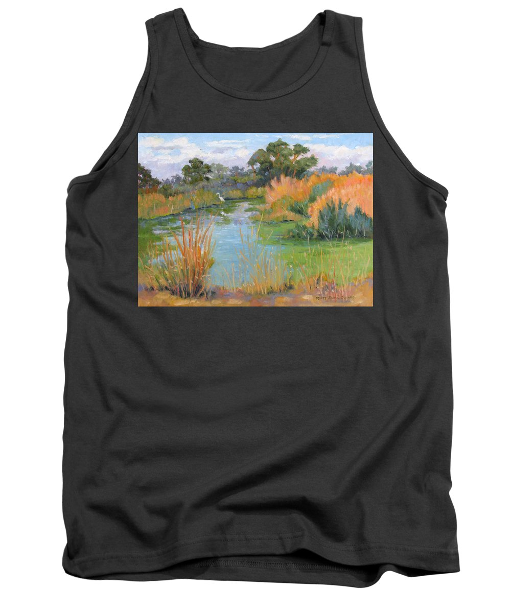 Central Valley Tank Top featuring the painting Looking For Lunch by Rhett Regina Owings