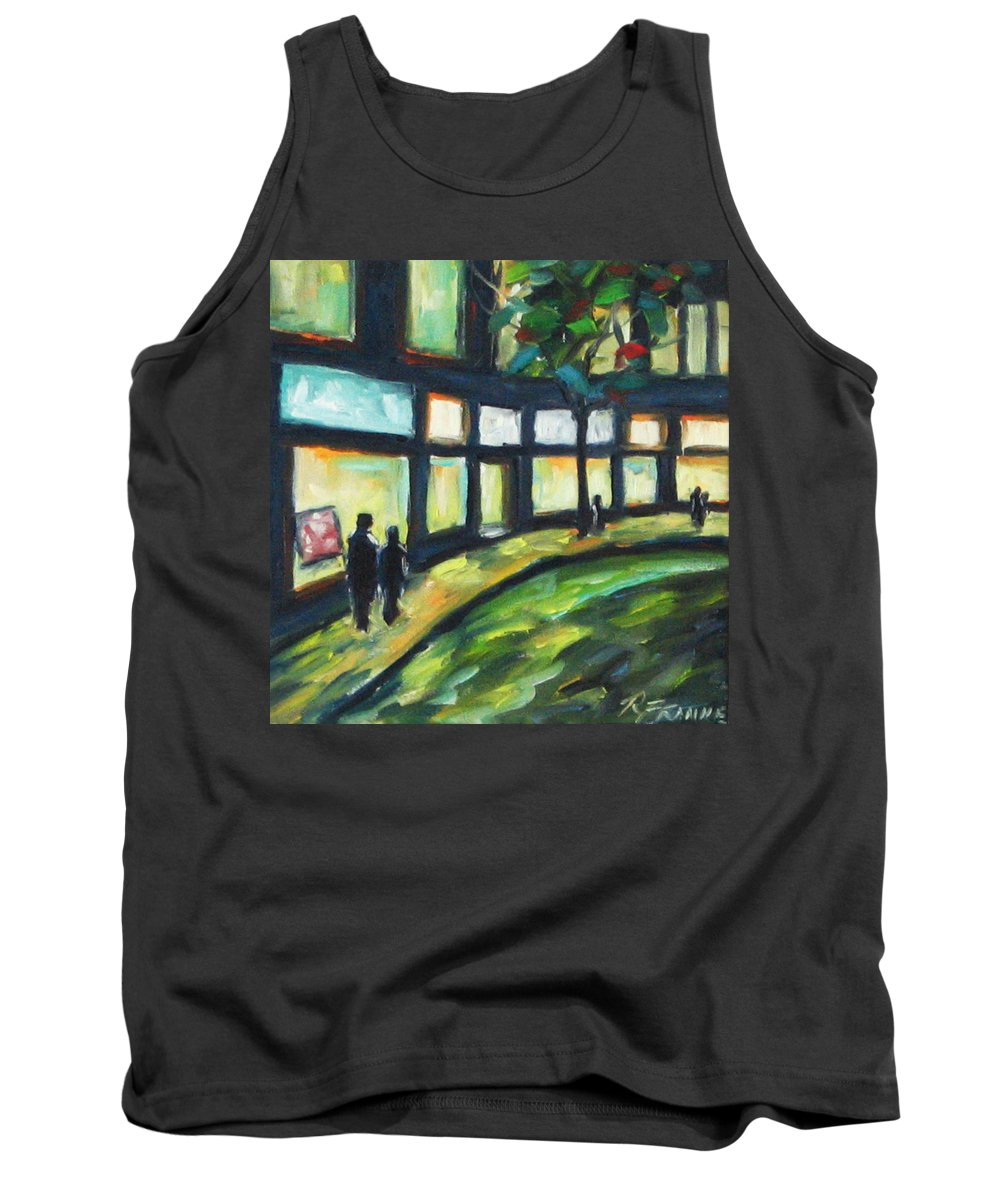 Town Tank Top featuring the painting Looking On by Richard T Pranke