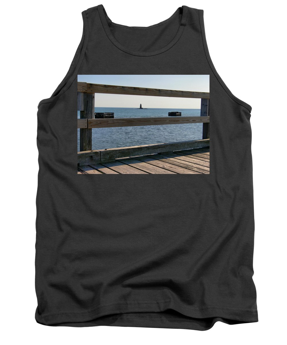 New England Lighthouse Tank Top featuring the photograph Looking Through by Nancie DeMellia