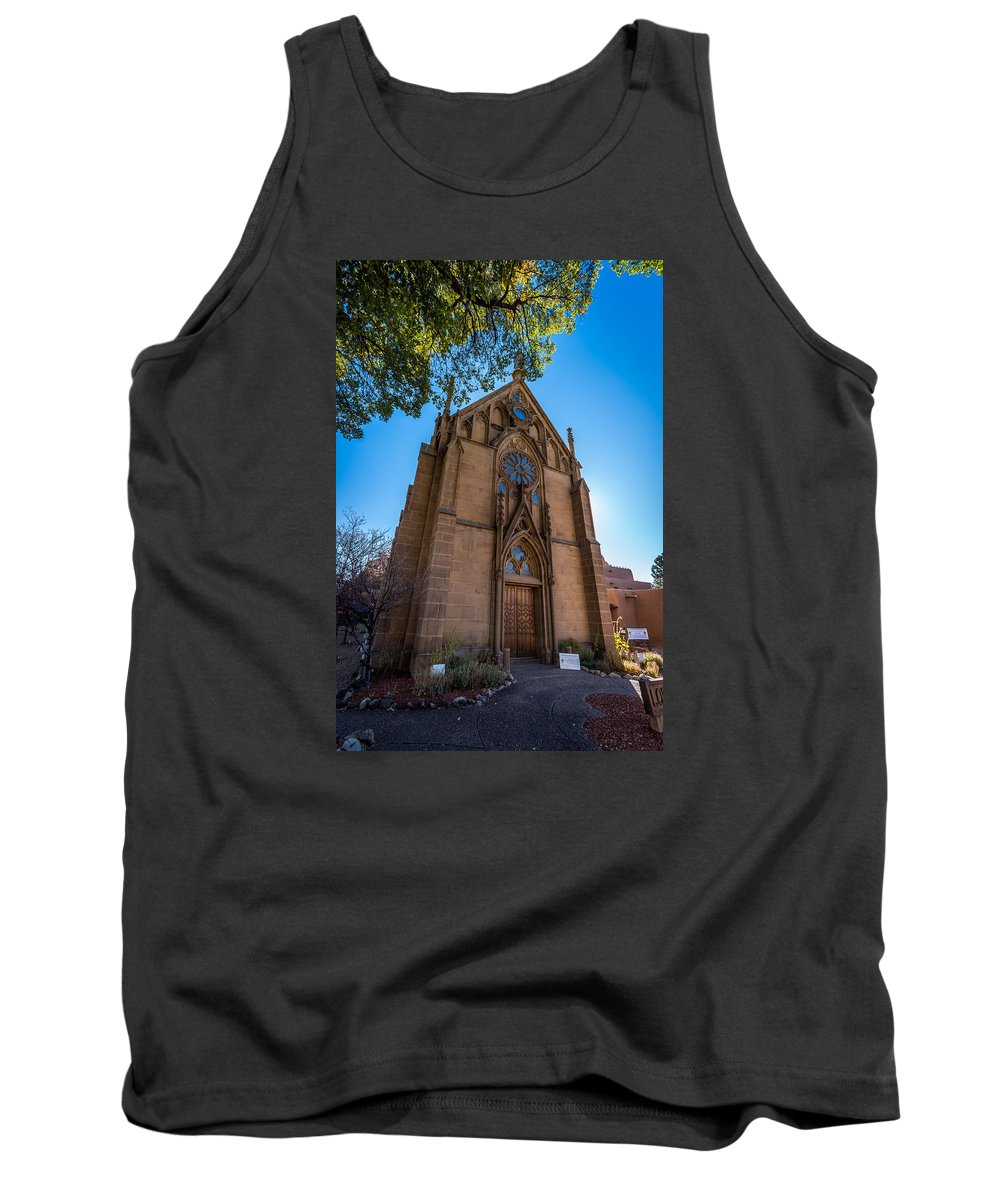 Temple Tank Top featuring the photograph Loretto Chapel by Jon Manjeot