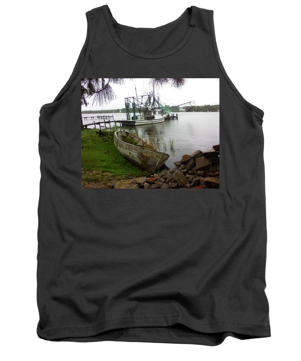 Boat Tank Top featuring the photograph Lost Boat by Patricia Caldwell