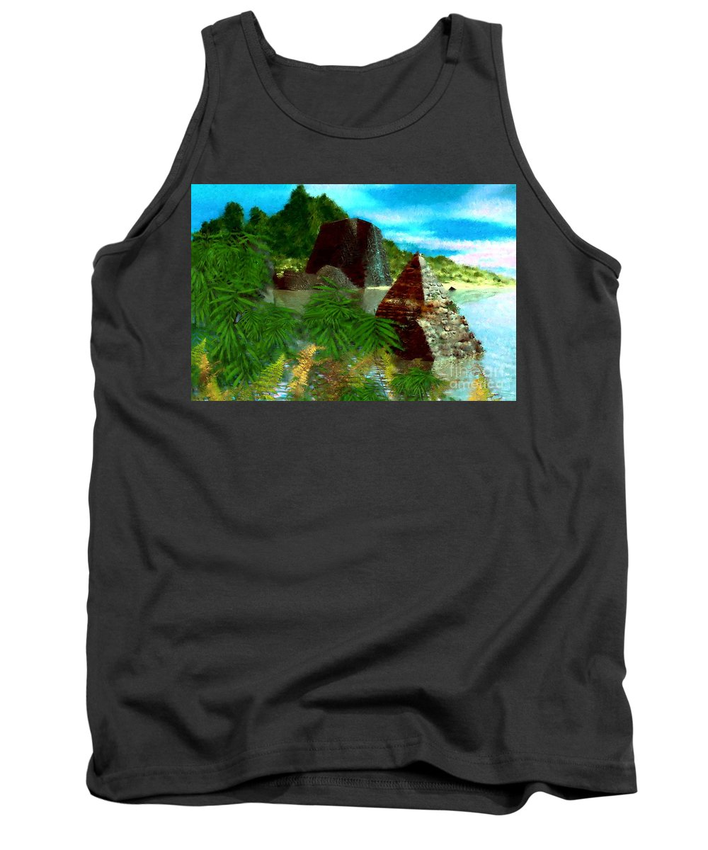 Digital Fantasy Painting Tank Top featuring the digital art Lost City by David Lane