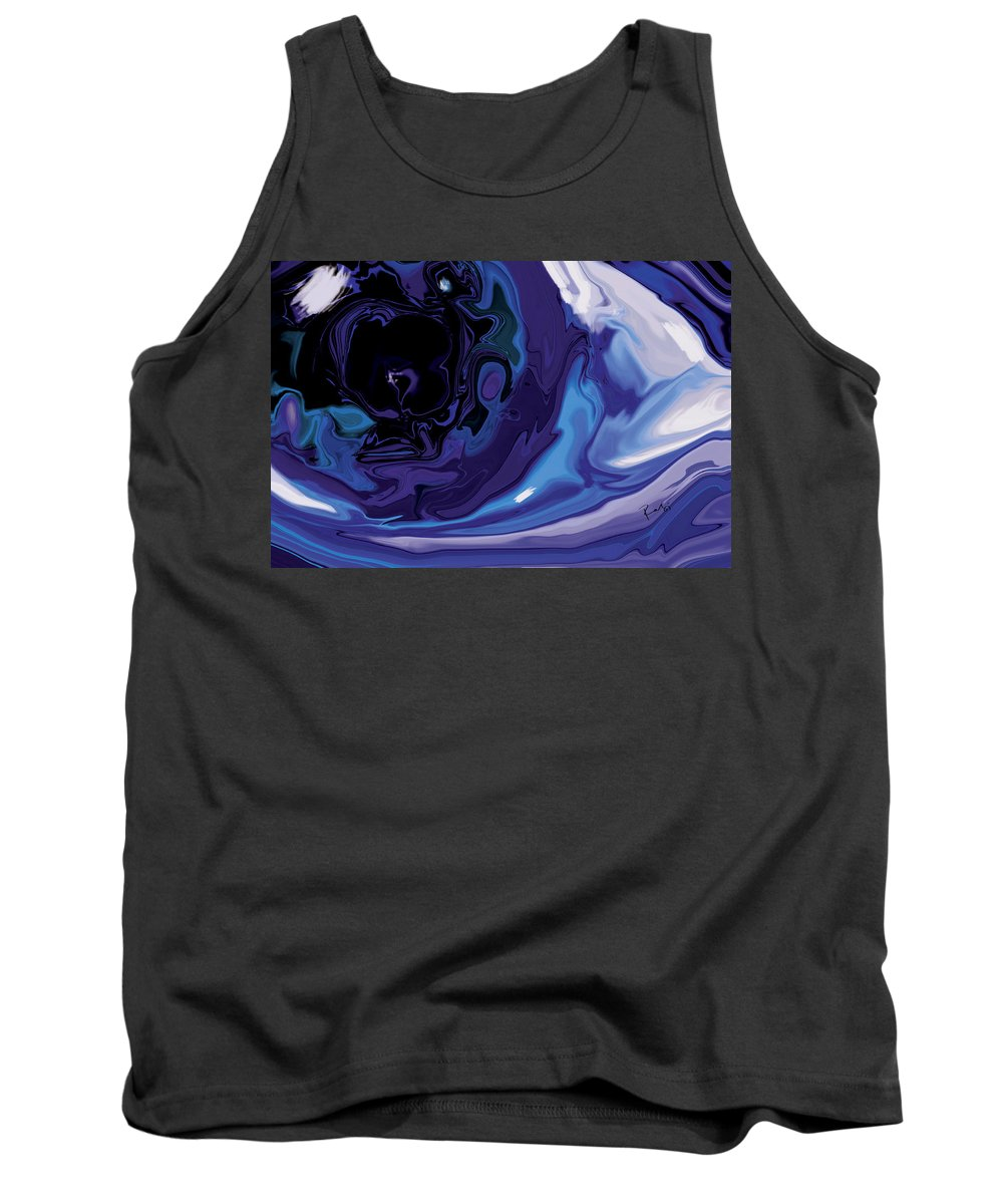 Blue Tank Top featuring the digital art Lost-in-to-the-eye by Rabi Khan