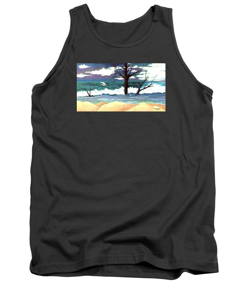 Original Watercolor Painting Tank Top featuring the painting Lost Swan by Patricia Griffin Brett