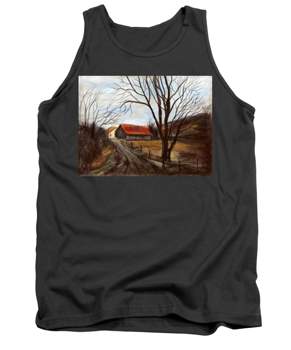 Barn Tank Top featuring the painting Louisa Kentucky Barn by Gail Kirtz