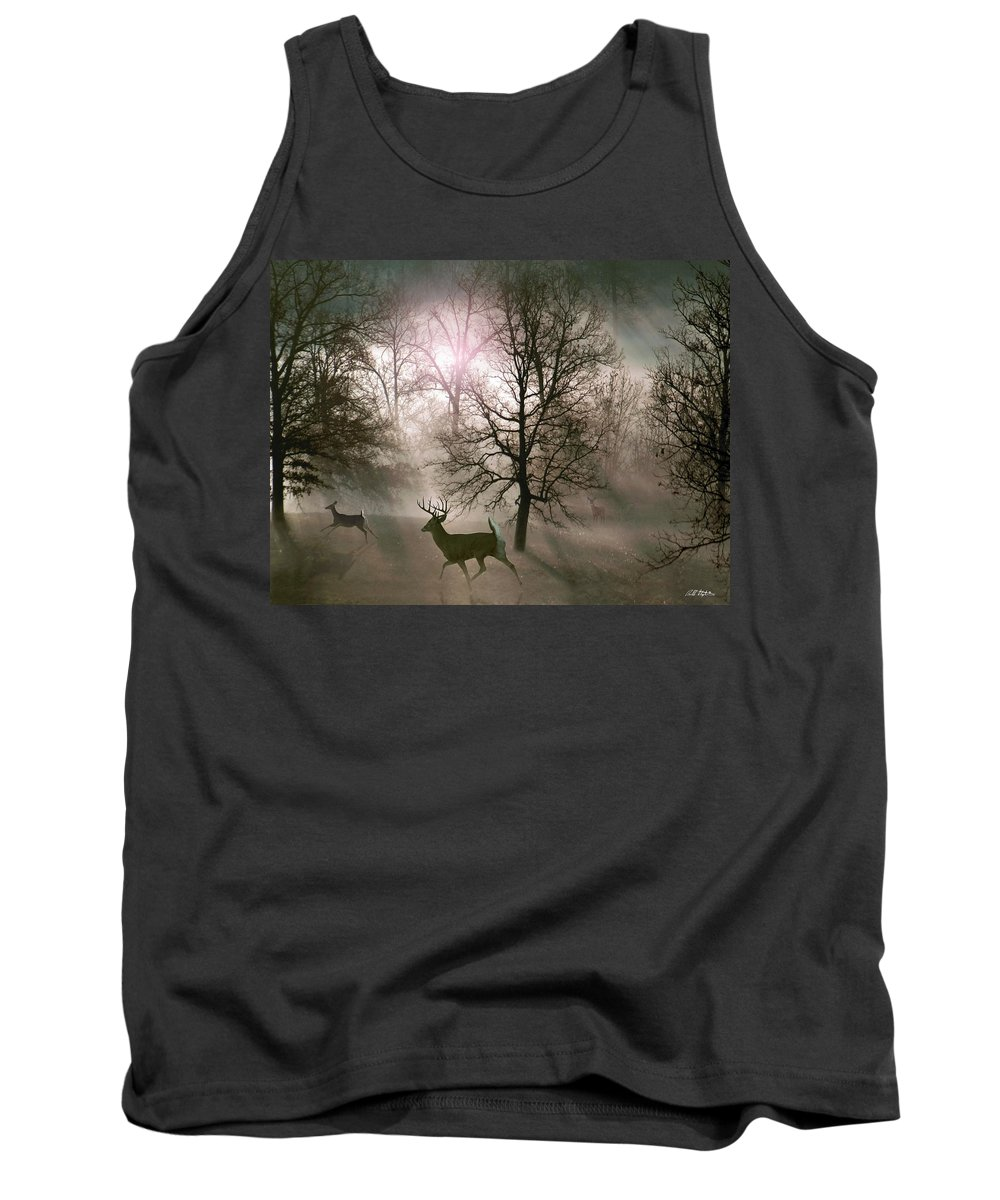Wildlife Tank Top featuring the digital art Love In The Wild by Bill Stephens
