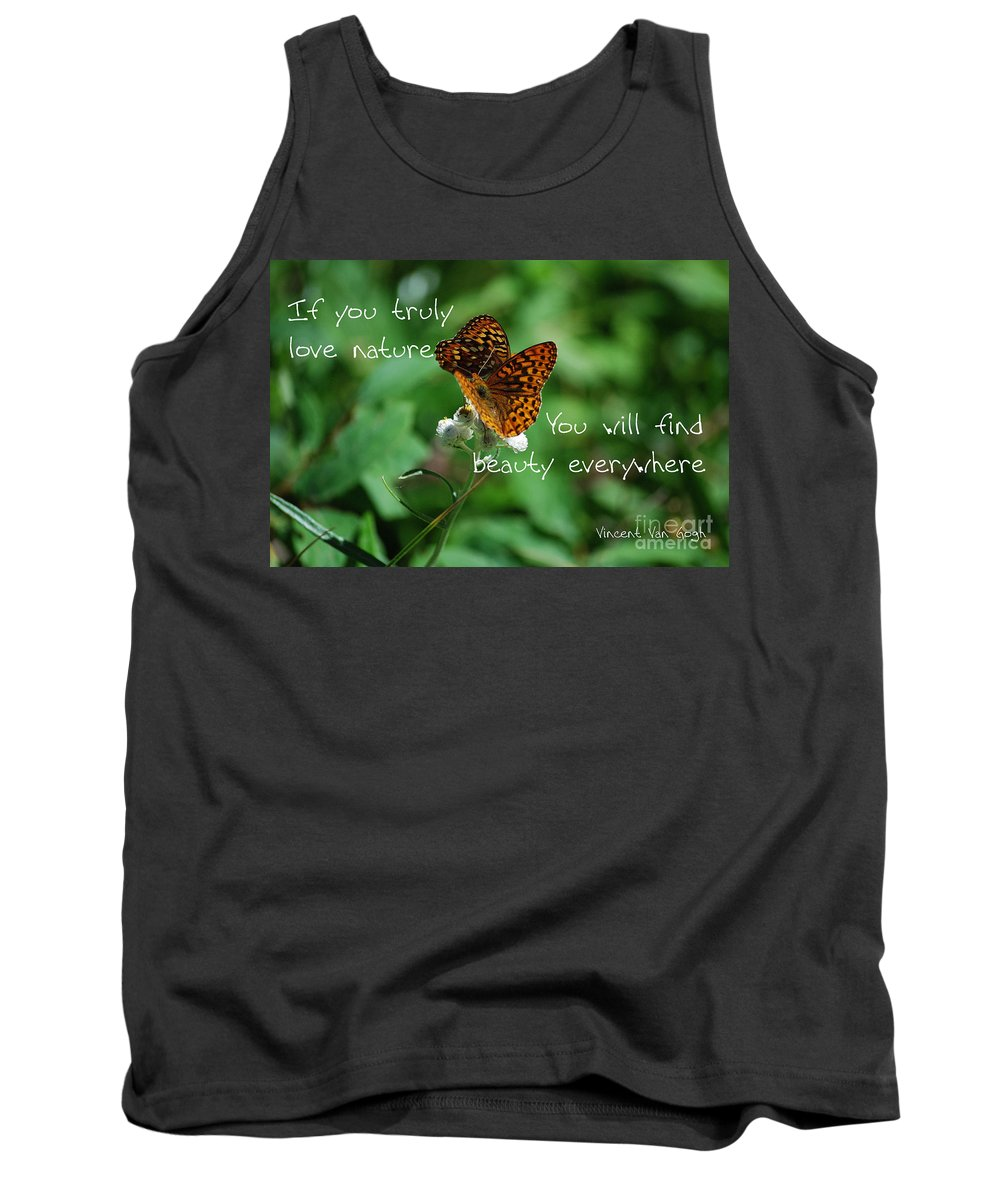 Butterflies Tank Top featuring the photograph Love Of Nature by Sharon Elliott