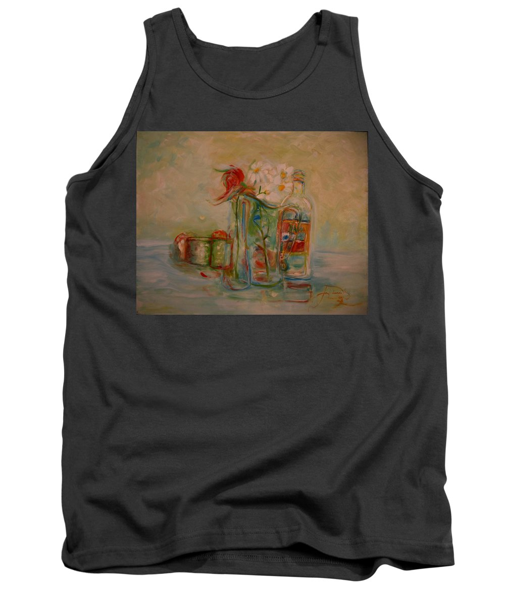 Rose Tank Top featuring the painting Lovers Picnic by Jack Diamond