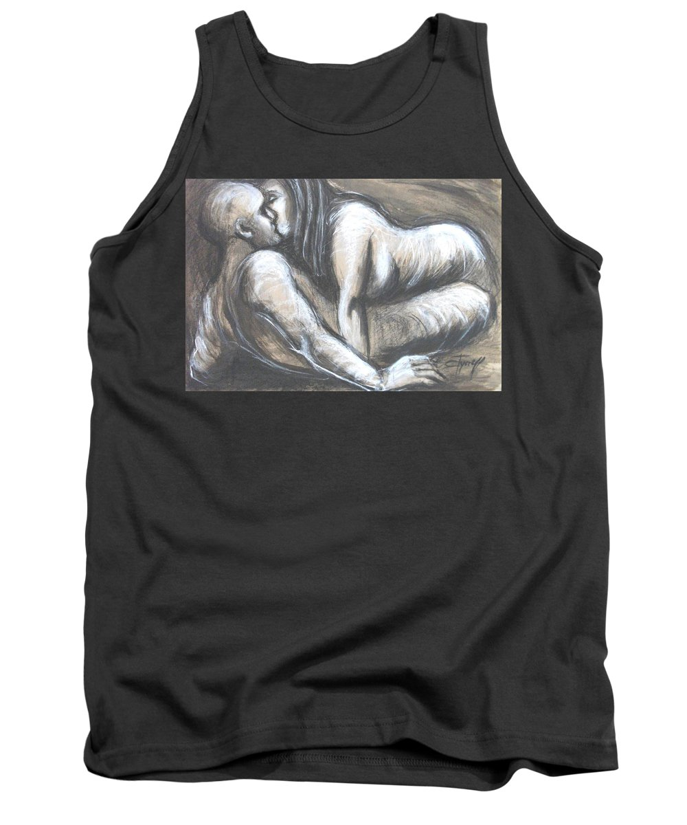 Original Tank Top featuring the painting Loves - Loving You by Carmen Tyrrell