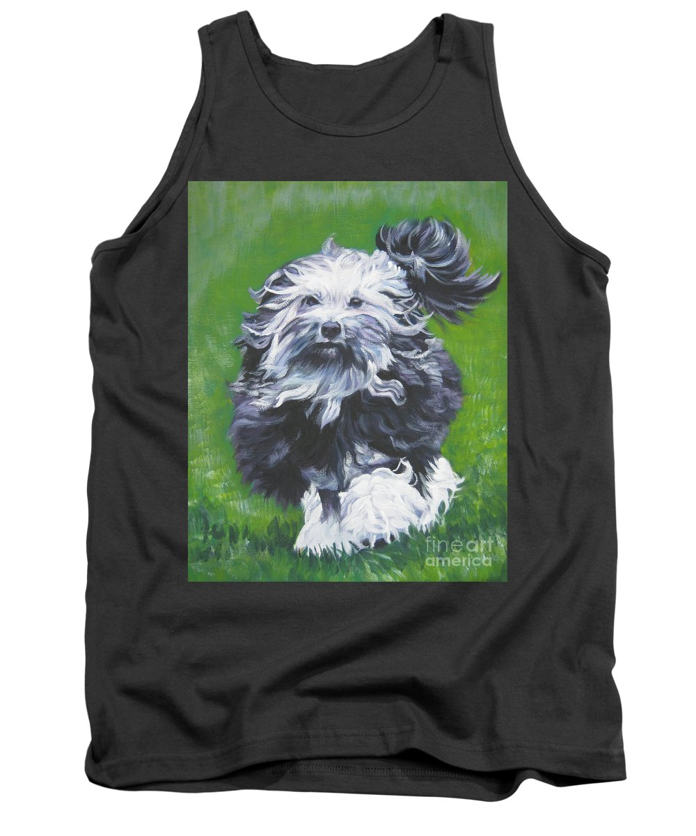 Lowchen Tank Top featuring the painting Lowchen by Lee Ann Shepard