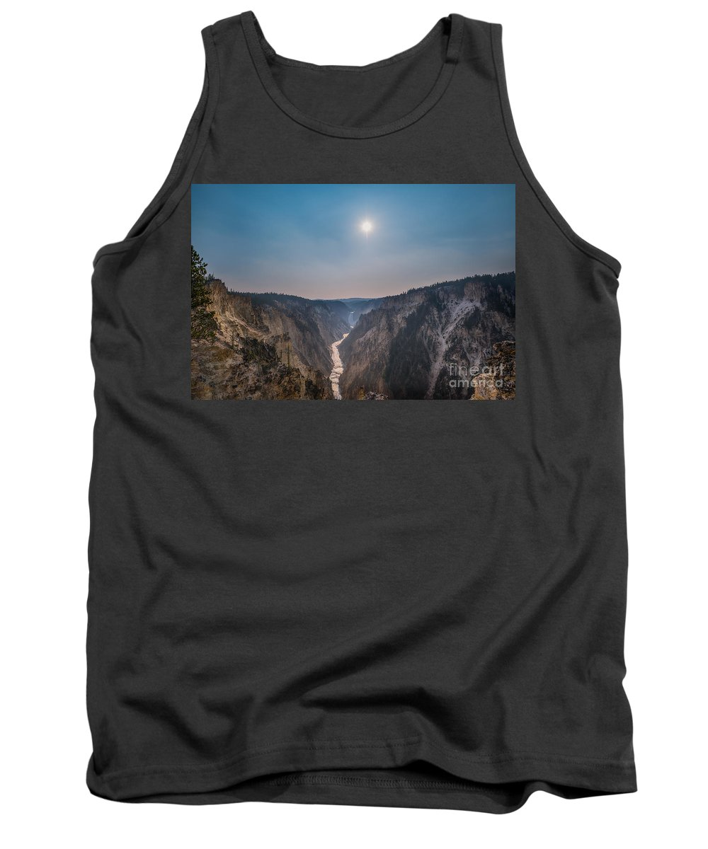Yellowstone Tank Top featuring the photograph Lower Falls At Artist Point by Michael Ver Sprill