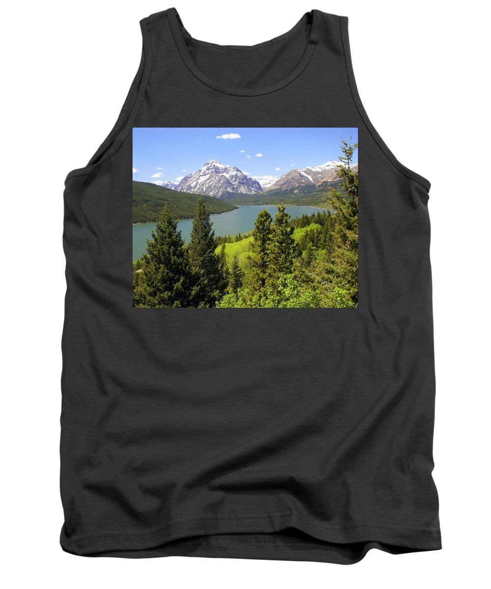 Two Medicine Lake Tank Top featuring the photograph Lower Two Medicine Lake by Marty Koch