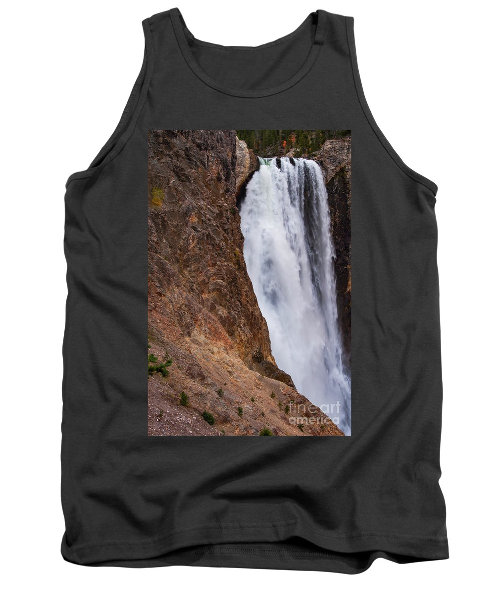 Lower Falls Tank Top featuring the photograph Lower Yellowstone Falls by Bob Phillips