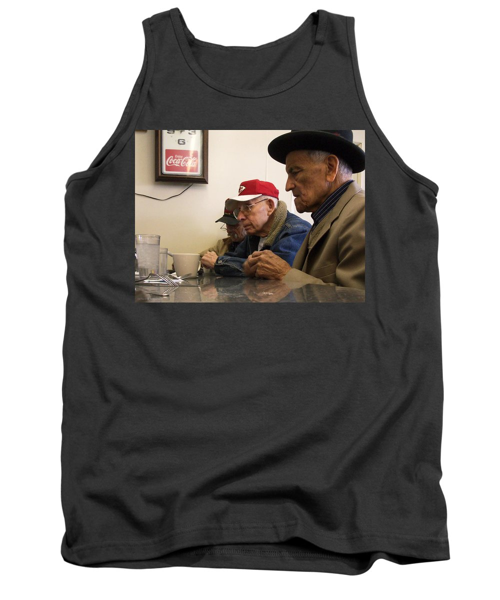 Diner Tank Top featuring the photograph Lunch Counter Boys by Tim Nyberg