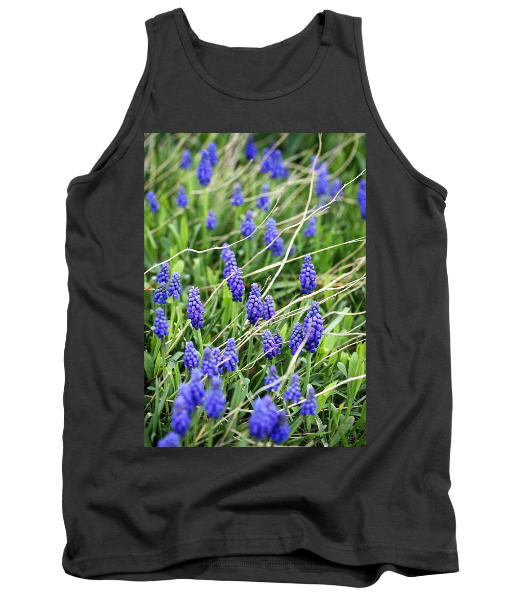 Flower Tank Top featuring the photograph Lush Grape Hyacinth by Marilyn Hunt