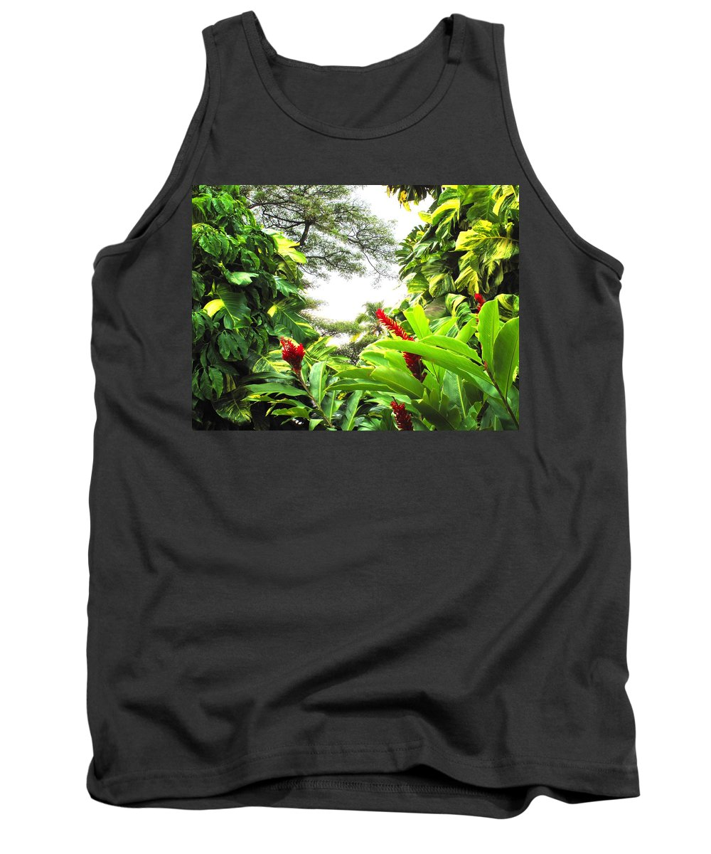 St Kitts Tank Top featuring the photograph Lush by Ian MacDonald