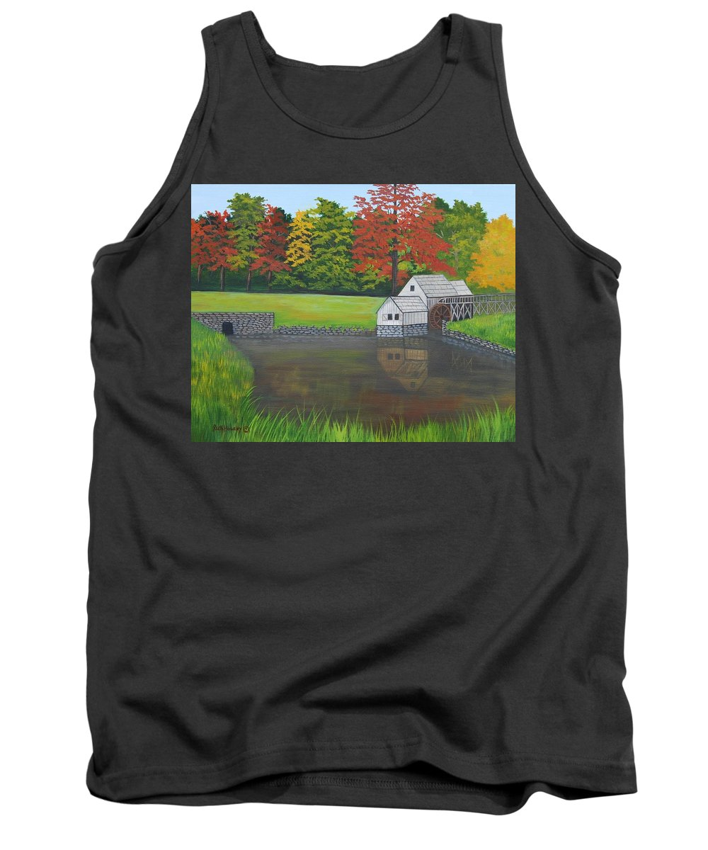 Landscape Tank Top featuring the painting Mabry Grist Mill by Ruth Housley